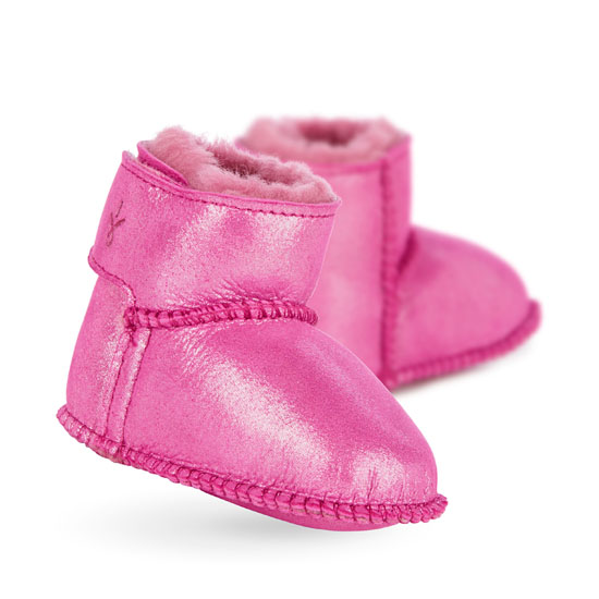 HOT PINK EMU Australia Kids Baby Bootie Metallic Outlet Online